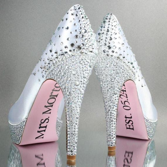 Wedding Shoes White Platform Wedding Shoes With Rhinestone
