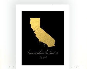 California State Art, State Artwork, State Art, California Art, California print, California map, California Art Print, California Poster
