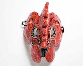 Paper mache cock mask