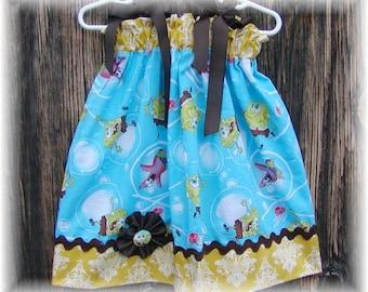 Girls Dress  Pillowcase style....Sponge Bob. sizes 0-3, 0-6, 6-12, 12-18, 18-24 months, 2T, 3T