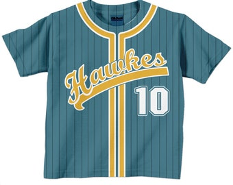Baseball Jersey Shirt - Personalized Team T-Shirt  - Any Color - Any Name