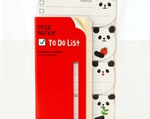 panda - ticky Post it Note - stick marker- fusen collection