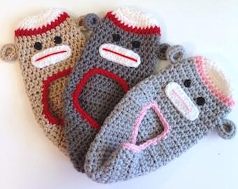 House Slippers, Crochet Slippers, Sock Monkey Slippers, House Shoes, Teen Slippers, Adult Slippers, Men Slippers, Handmade Slippers