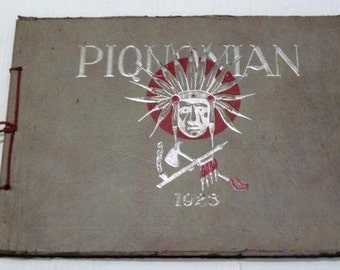 1923 High School Year Book from Piqua OH 020714