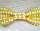 Mustard goldenrod houndstooth bowtie in Newborn Infant Toddler Youth sizing -  ring bearers birthday photo prop father son sibling sets