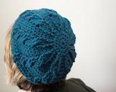 CUSTOM Crochet Cable Stitch Slouchy Hat Warm Winter Tam maineteam