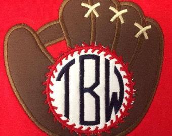Momogrammed Baseball glove shirt