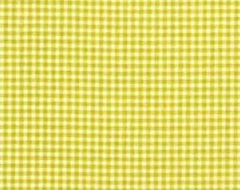 """END OF BOLT - Citron Tiny Gingham From Michael Miller - 34"""" X 44"""""""