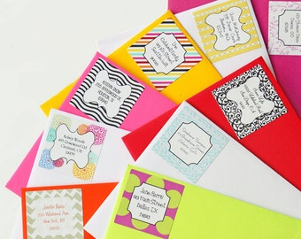 Custom Return Address Label Stickers Personalized Return Address Labels Colorful Stickers Personalized Gift - Set of 24