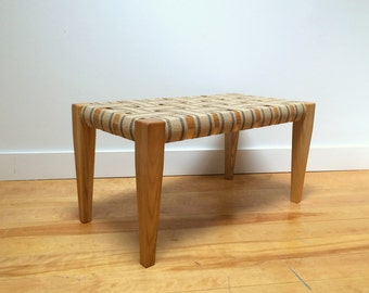 DayBench by Chez Boheme - Wooden Bench with Jute Webbing