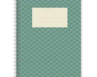 Notebook A5 - Green-Blue Pattern