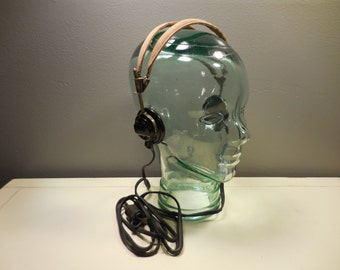 Vintage Military Dictograph Headset