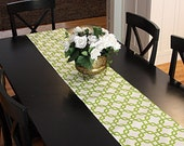 Table Runner - White and Green Chain Table Runners Table Runner  Green Table Runner Select a Size