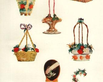 1907 Nougat Sugar original antique food print