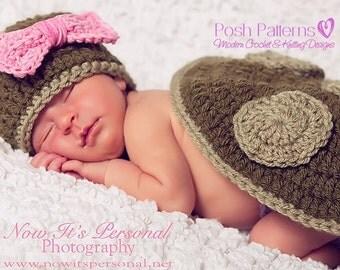 Crochet PATTERN - Newborn Turtle Hat and Shell Little Pattern Set - Photo Prop Pattern - PDF 160