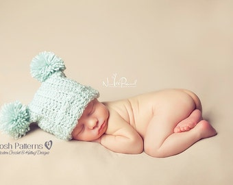 Crochet PATTERN - Crochet Hat Pattern - Easy Crochet Pattern - Crochet Patterns for Baby - Baby, Toddler, Kids, Adult Sizes - PDF 103