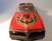 Scale Model Car Pontiac Firebird in Red by Classicwrecks