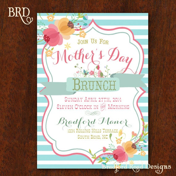 Mothers Day Brunch Mothers Day Invitation Luncheon – Mothers Day Invitation Cards