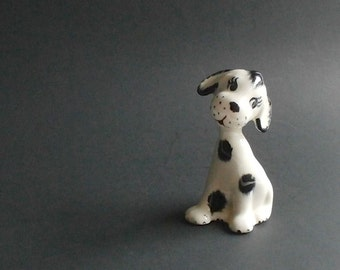 Vintage Dalmatian Dog Figurine - Spotted Dog - Firehouse Dog - Collectible - Puppy Figurine - Knick Knack