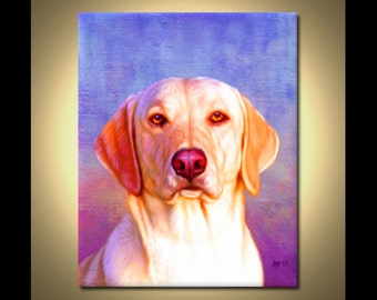 Yellow Labrador Portrait | Custom Yellow Labrador Portrait | Yellow Lab Painting From Your Photos | Yellow Labrador Art by Iain McDonald