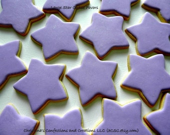 Large 4 inch Star Cookie Favors for any Occasion (#2332)