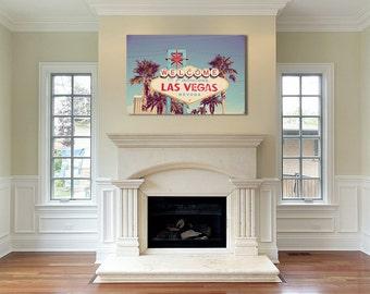 Las Vegas canvas gallery wrap - las vegas photograph - ready to hang art - fabulous vegas photograph - canvas home decor