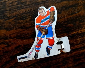 Bobby Hull Canadian Hockey Table Top Game Skater Magnet | Montreal | Upcycled