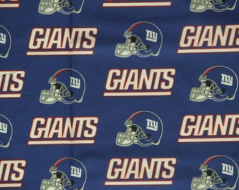NFL New York Giants 100% Cotton Fabric