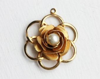Pearl Flower Charm