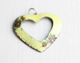Yellow Heart Charm