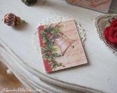 Christmas Carol Vintage Book for Dollhouse.