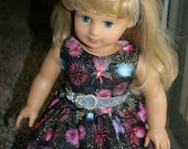 Fourth of July dress for your 18 inch doll
