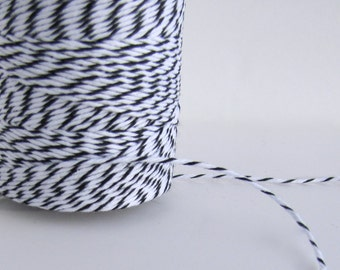 Black and White Bakers Twine, Christmas twine, Bakers Divine Twine