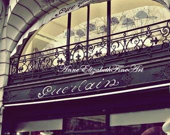 Paris Photography,Guerlain,Vintage,Boutique,Raspberry,Paris Print,Romantic,Parfum,Fashion Art,Balcony, Rod Iron, Chandelier,Vintage,Dorm Art