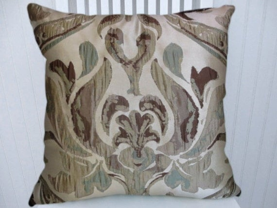 Decorative Pillows Trim : Brown Decorative Throw Pillow with Trim by CodyandCooperDesigns