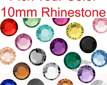 50-250 PCS X 10mm Round Resin Rhinestone Mix Assorted Set Mixed Crystal Cabochon Assorted Color Rhinestone Flatback RS Decoden Craft R10M