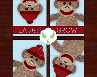 Print: sock monkey messages — choos 1 of 8 prints