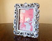 Rectangle Ornate Frame, Silver, Table Number Frame,You Choose Frame, Table Top Frame, Ornament, Neo Magnet, Wall Haning, Chalkboard
