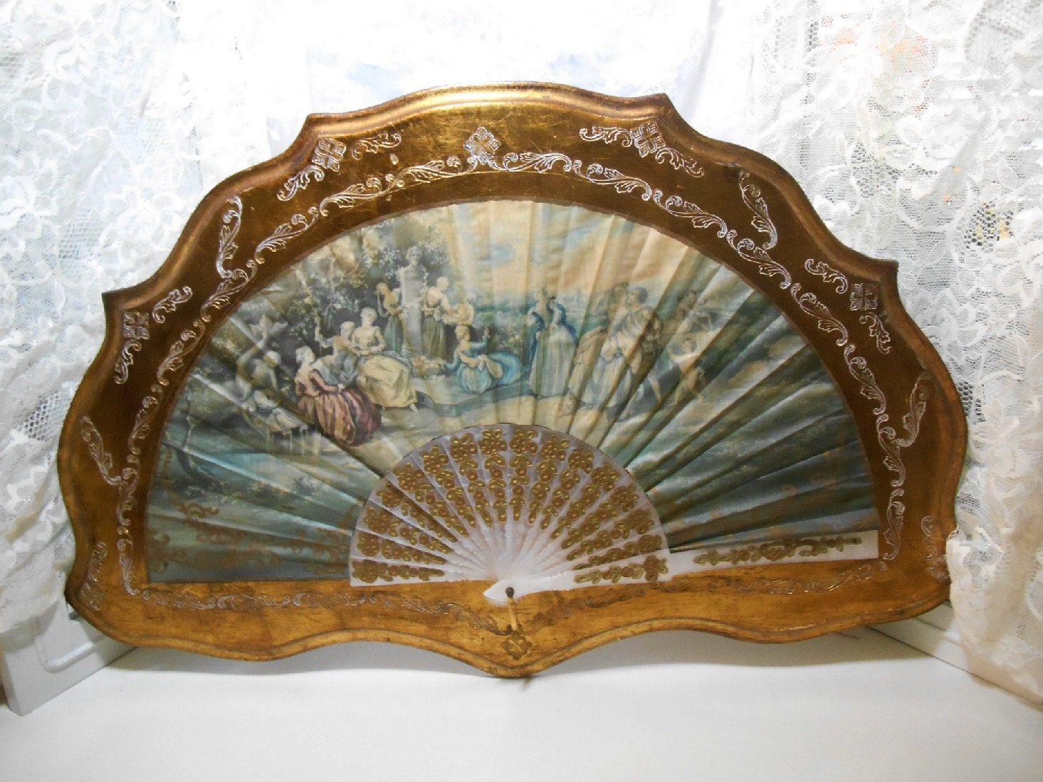 Antique Baroque Style Boudoir Wall Decor Made in Italy