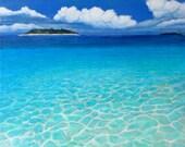 "Take Me to the Maldives Please  10"" x 10"" Giclee on Canvas/ Fine Art Print/ Surf Art"