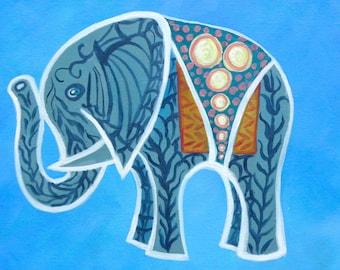 "11"" x 14"" Baby Thai Elephant I/ Original Fine Art Print/ Giclee on Canvas"