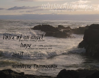 Whispering Hope | 16 x 20 Christian Hymn Print or Canvas Wall Art of Comfort Hope and Peace