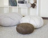 Pouf - Ottoman - Floor pillows - Floor cushions - Pouf ottoman - Chairs - Decorative pillows - Seat cushions - Living room decor - Felt