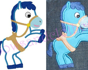 Sheriff's horse embroidery applique design digital instant download 2581