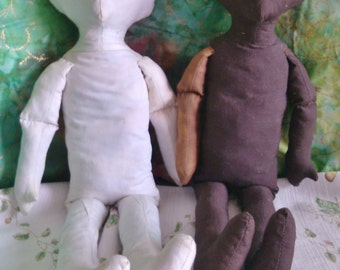 """REDUCED  18"""" Doll Bodies, with Molded Nose and Chin"""