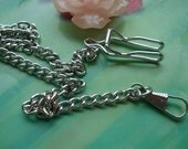 one pcs 37cm silver silvery clip chain belt chains cowboys chains for pocket watch locket pendants pockets watches
