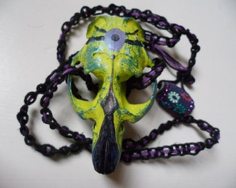 Intergalactic Shaman Necklace - Animal Skull, Hemp