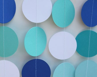 Baby Boy Baby Shower Decoration- paper garland, circle garland party decor