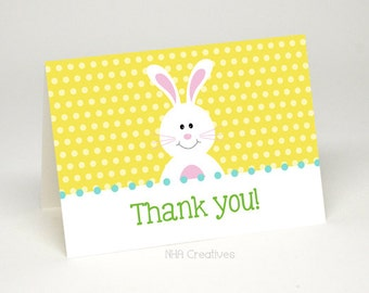Bunny Thank You Card - DIY Printable Digital File