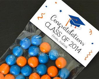 Custom Graduation Treat Bag Topper - DIY Printable Digital File